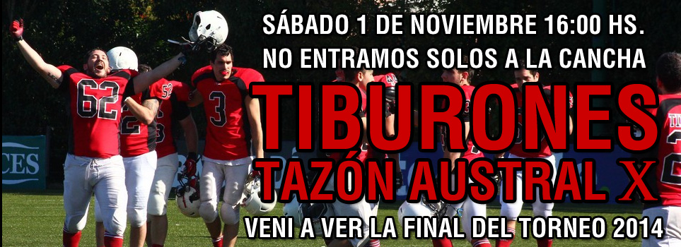 Tiburones en la final del Tazon Autral 2014